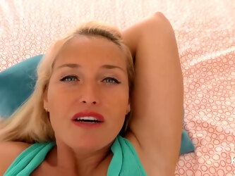 Blue- Eyed, Blonde Mommy Is Sucking Dick In A Pov Style And Getting Stuffed With It