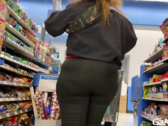 Beauty Store Worker With Ridiculous Fat Ass