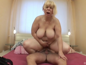BBW mature Milena Iseo gives head and gets fucked in her wet cunt