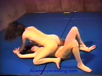Beautiful pornstars wrestle and fuck for sexual supremacy.