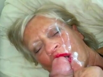 Mature wife taking my creamy load