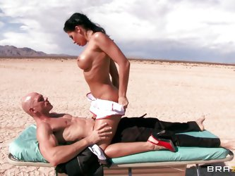 Johnny Sins is in a coma. When milf doctor Rachel Starr comes to check on him her imagines he's fucking her out in the middle of nowhere. He suck