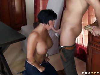 Shay wants to try new recipe, but all her plans stumble upon throbbing dick of Keiran Lee. He makes her undress and then lick her pussy intensively. H