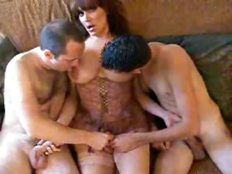 Shemale In Lingerie Threesome