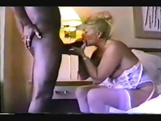 Choking on my big black boner was just what this awesome mature wife needed as it can be seen in this amateur fetish video. She sucked me off so well