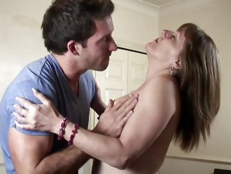 Pandora is a mature, respectable lady but when she sees such a hunk she starts to drool for his cock. The bitch loses her minds and kisses him freneti