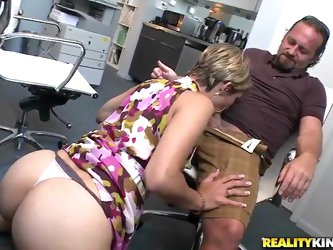 Amazing office sexual intercourse of the beautiful babe with sweet natural titties and awesome asshole. This babe for sure knows how a man must be ple