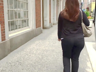 Phat Ass Business Woman in Tight Pants