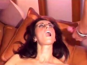 Double penetration threesome with cock hungry MILF Angie George