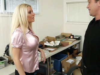 Billy's new home office is a disaster, so he hires an assistant to help him organize and file. Her name is Riley Evans, and she's hot, busty
