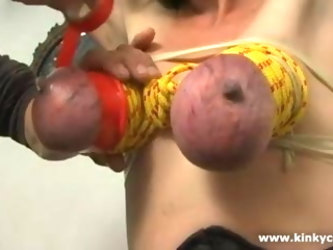 Milking tits in punishment