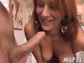Slender mature olivia sinclair with curvy natural tits bangs