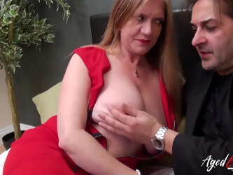 Mature lady got seduced and fucked hardcore way in all different positions