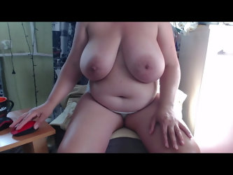 Bbw mom play with big boobs