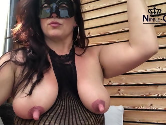 Fucking MILF with huge nipples