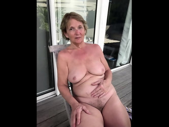 MILF Poses and Masturbates with Vibrator Orgasm