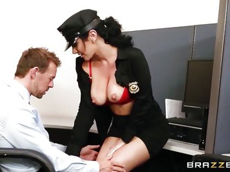 Do girls wearing uniforms make you horny? Meet a wild beauty with black hair called Jayden. Her biggest gift are the wonderful breasts coming out of t