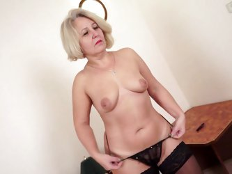 Victoria is a sexy gilf with her attractive body and big boobs. Here this bitch is going wilder than ever. She is putting her clothes off to make her
