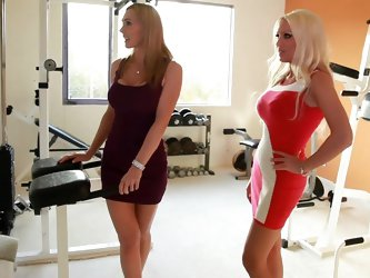 Tanya Tate and Diana Doll are hanging out at Tanya's place discussing her remodel and what she's going to do with her new room. Tanya tells