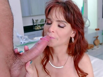 Step son's energized penis makes mommy very happy